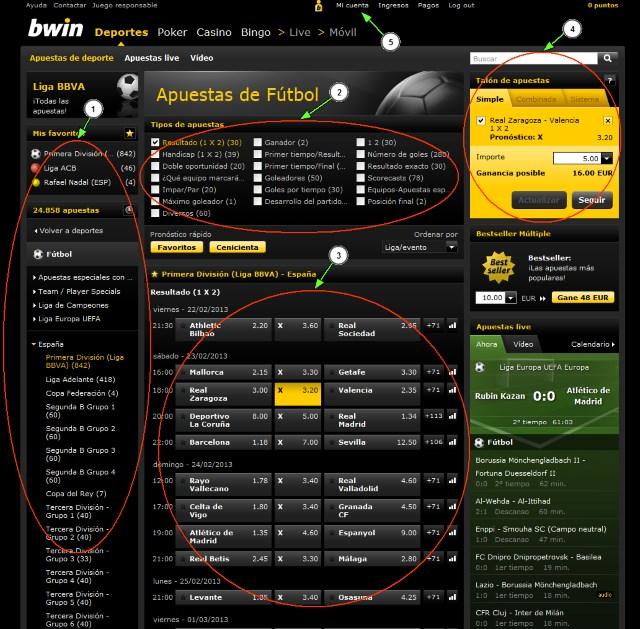 Apostar con bwin a fútbol u otro deporte es muy fácil desde su web