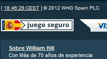 Logotipo de juego seguro en William Hill